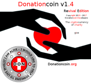 Donationcoin v1.4 Splashscreen