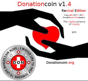 Donationcoin v1.4 Splashscreen